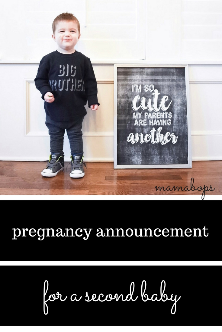 Pregnancy Announcement for a Second Baby