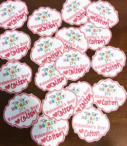 Non-Candy Valentines Tags
