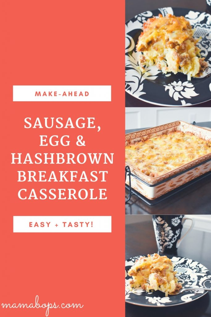 Sausage Egg and Hashbrown Breakfast Casserole