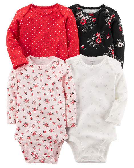 Carter's Baby Girl Holiday Bodysuits