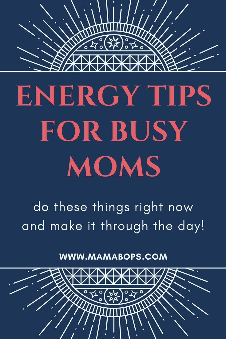 Energy Tips for Busy Moms! As moms, we're all just trying to make it through the day. But some days are longer than others! Here is some great advice on how to have more energy as a mom! Be a fun mom like you've always wanted!