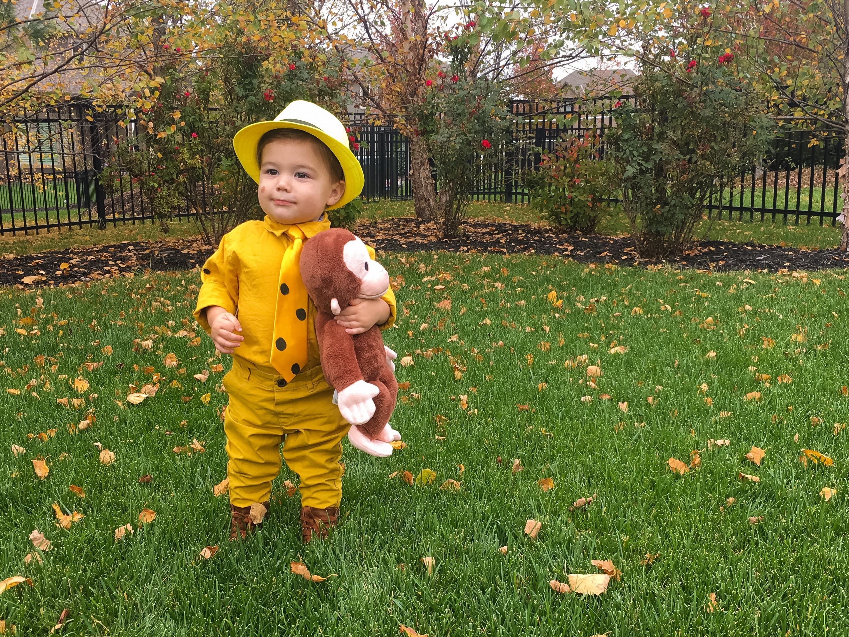 The Man in the Yellow Hat Costume Toddler Curious George Halloween Costume
