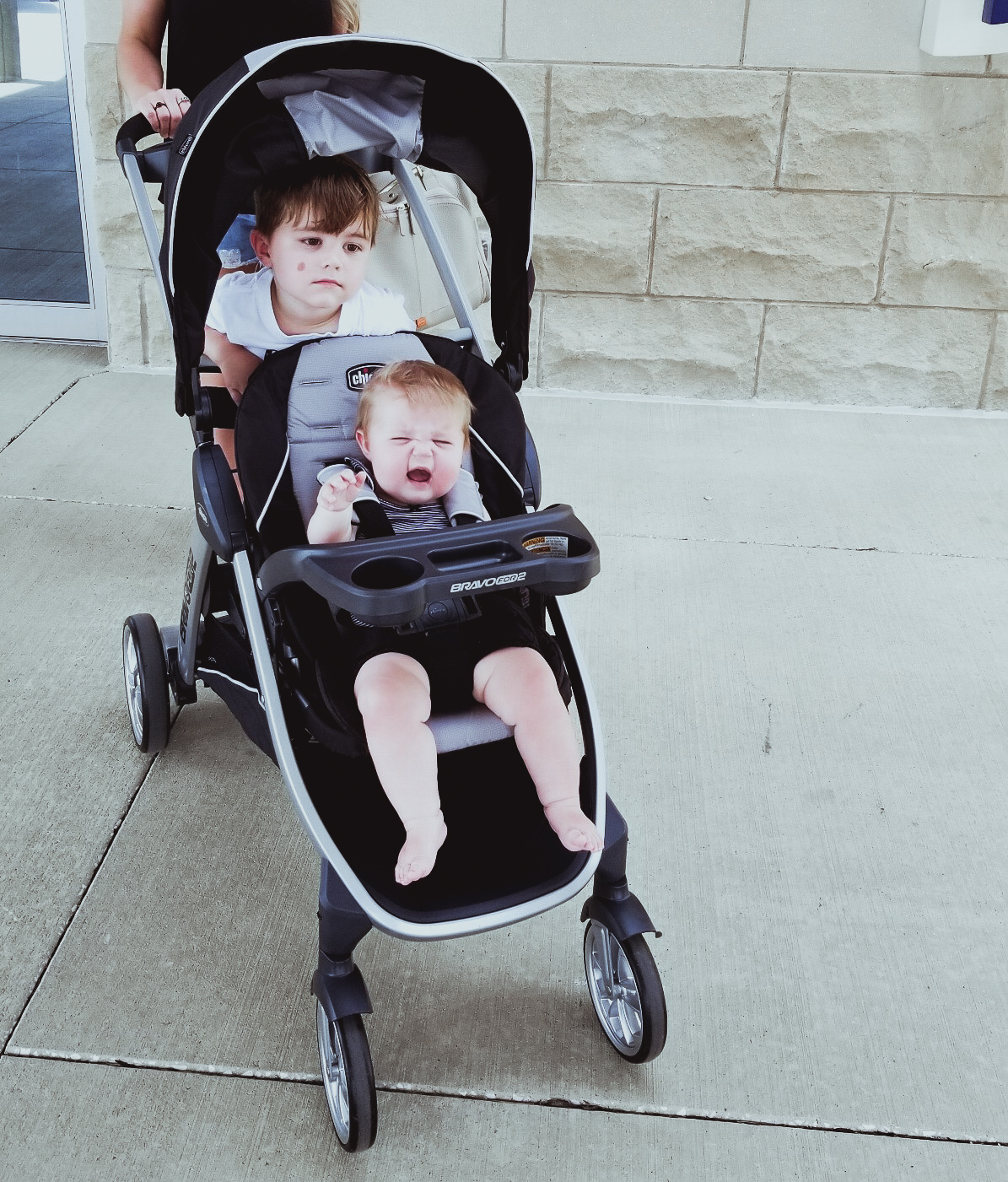 Chicco BravoFor2 Double Stroller Review: Our weekend recap featuring a review of the Chicco BravoFor2 Double Stroller. If you're looking for the best double stroller for 2 kids, you'll want to check out this review. The Chicco Bravo for 2 is a top tandem double stroller and perfect for your family's weekend adventures!