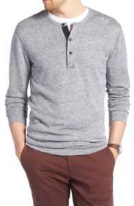 1901 Long Sleeve Linen Blend Henly