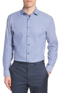 Nordstrom Mens Shop Tech Smart Trim Fit Dress Shirt