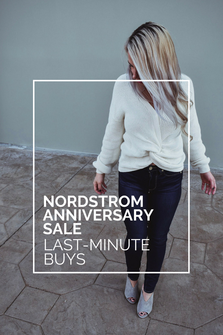 "When does the Nordstrom Anniversary Sale end -- NSALE 2018 End Date. If you're wondering ""When does the Nordstrom Anniversary Sale end?"" in 2018, here's the info you need and a round-up of the last-minute Nordstrom Anniversary Sale deals you don't want to miss. The best Nordstrom Anniversary Sale picks for the last week of the NSALE 2018. #NSALE #NSALE2018 #Nordstrom #NordstromAnniversarySale #Fashion #Style #FashionBlogger #StyleBlogger"