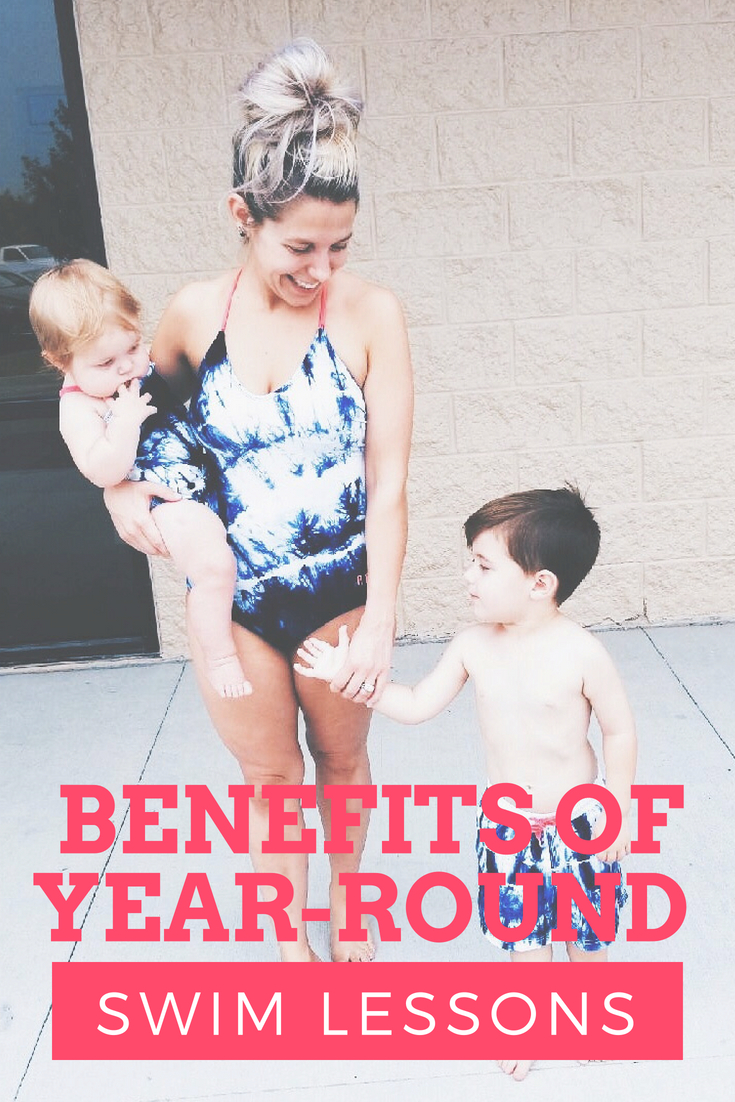 Benefits of Year-Round Swim Lessons -- The benefits of year-round swim lessons are many, and blogger Tricia Nibarger of COVET by tricia shares some of her favorites in this post. The importance of year-round swim lessons for kids is huge to avoid regression and keep a consistent routine. If you're wondering are year-round swim lessons worth it, here's the info you need! #MomBlogger #MommyBlogger #Swimming #SwimLessons #KidActivities