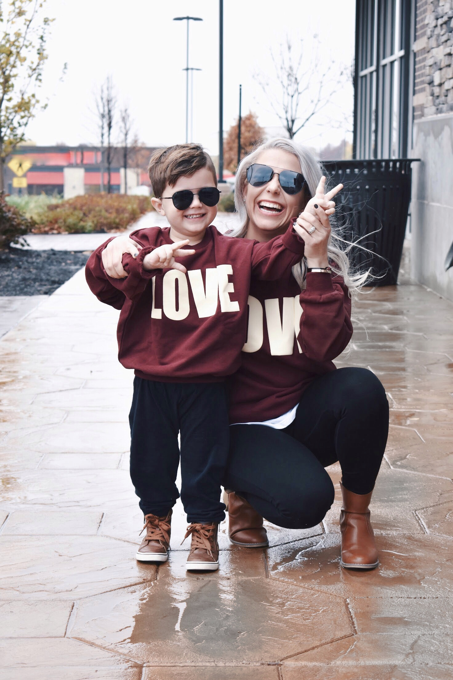 Mother Son Matching Outfits - Twinning Outfits for Boy Moms! You won't believe the cuteness! Try these cute matching outfits for mommy and son for your next adventure with your little man! Blogger Tricia Nibarger of COVET by tricia showcases stylish boy mom matching outfits with her son. Plus, an exclusive discount code to save on PatPat matching outfits! #Twinning #BoyMom #FashionBlogger #MommyandMe