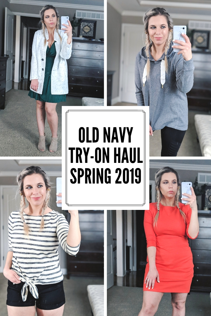 Old Navy Try On Haul Spring 2019: The best pieces from Old Navy to refresh your closet for Spring 2019! Fashion blogger Tricia Nibarger of COVET by tricia showcases the cutest Old Navy Spring 2019 styles. This Old Navy try on haul includes dresses, jackets, tops, shorts, workout wear, and more! #oldnavy #liketkit #tryon #haul