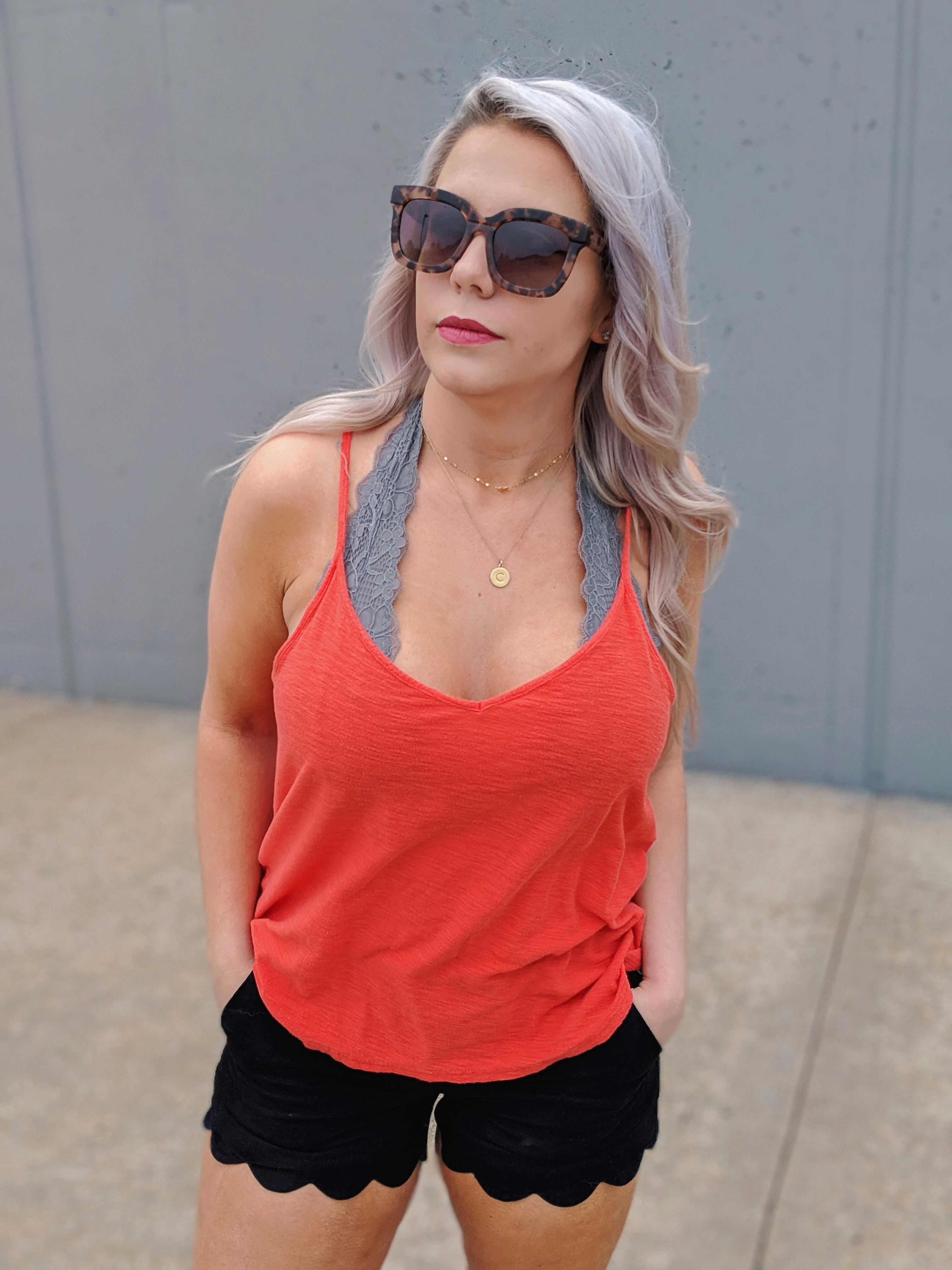 Halter Bralette Outfit Ideas: Halter bralette outfits perfect for all seasons! Fashion blogger Tricia Nibarger of COVET by tricia showcases halter bralette outfit ideas for spring, summer, fall, and winter. Cute halter bralette outfits, what to wear with a halter bralette. #liketkit #bralette #womensfashion