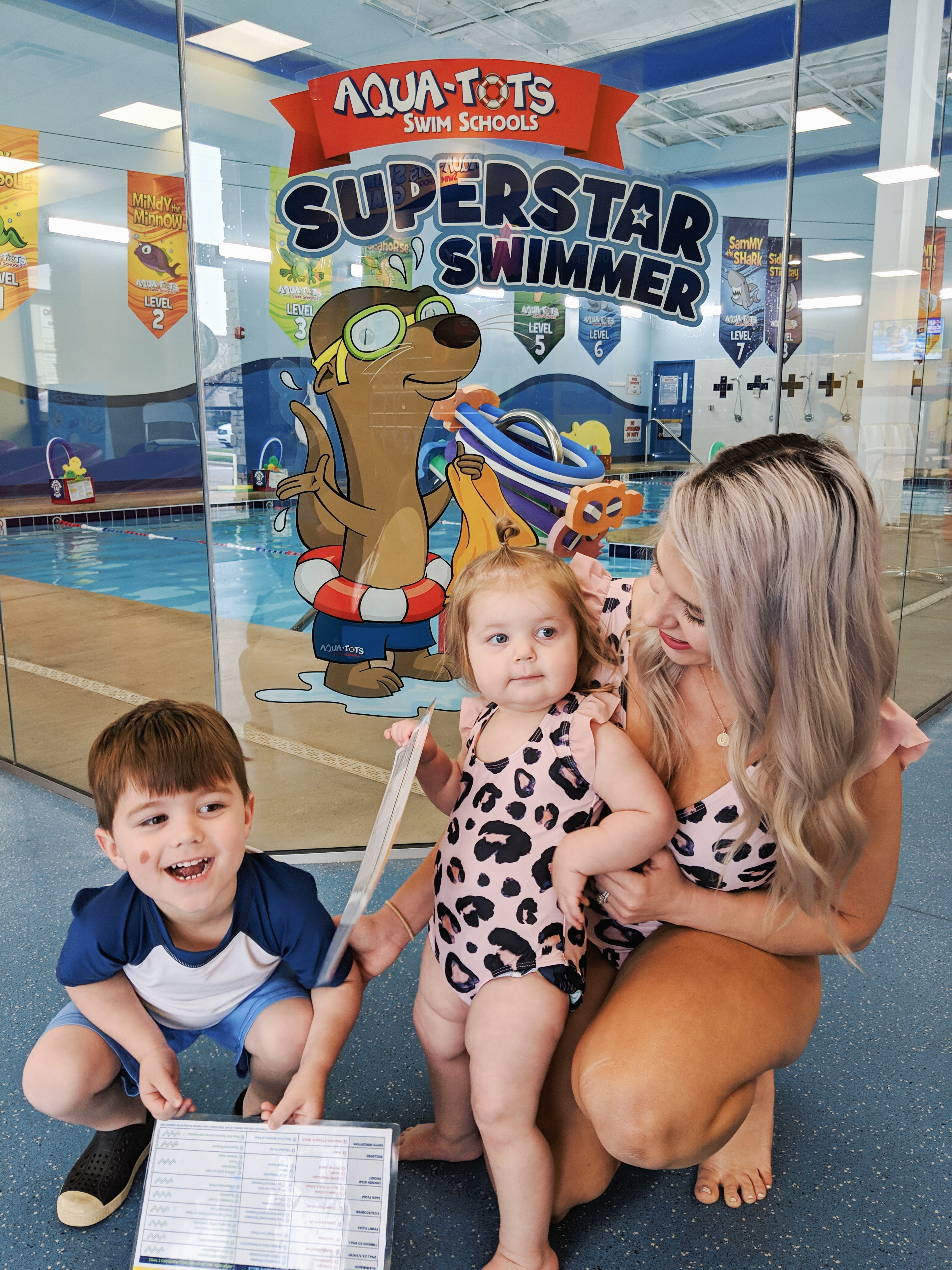 Water Safety Tips for Toddlers: May is National Drowning Prevention Month, so it's time to review water safety tips! Blogger shares water safety tips for toddlers learned from swim lessons at Aqua-Tots Swim Schools in Olathe, Kansas. #swimming #swimlessons #watersafety #toddlers