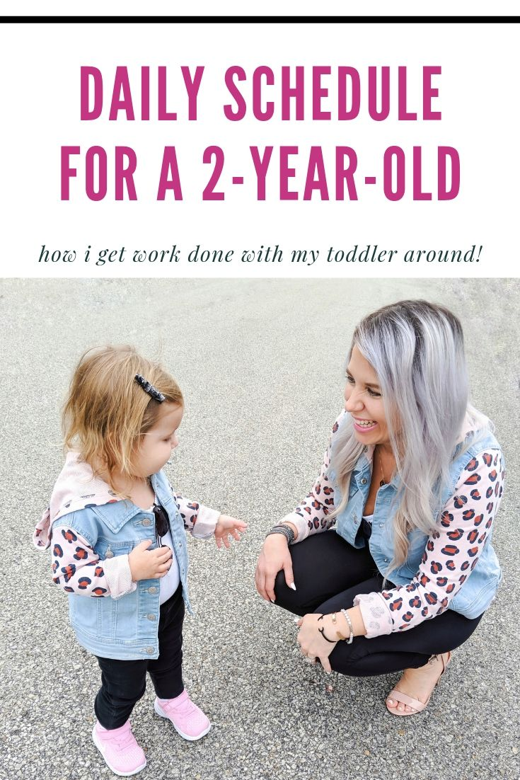 2-Year-Old Daily Schedule: Daily routine for a 2 year old! Here's what a normal day in the life of a 2-year-old and SAHM looks like for us. If you're looking for a 2-year-old daily schedule, here's one to help! #toddler #2yearsold #sahm