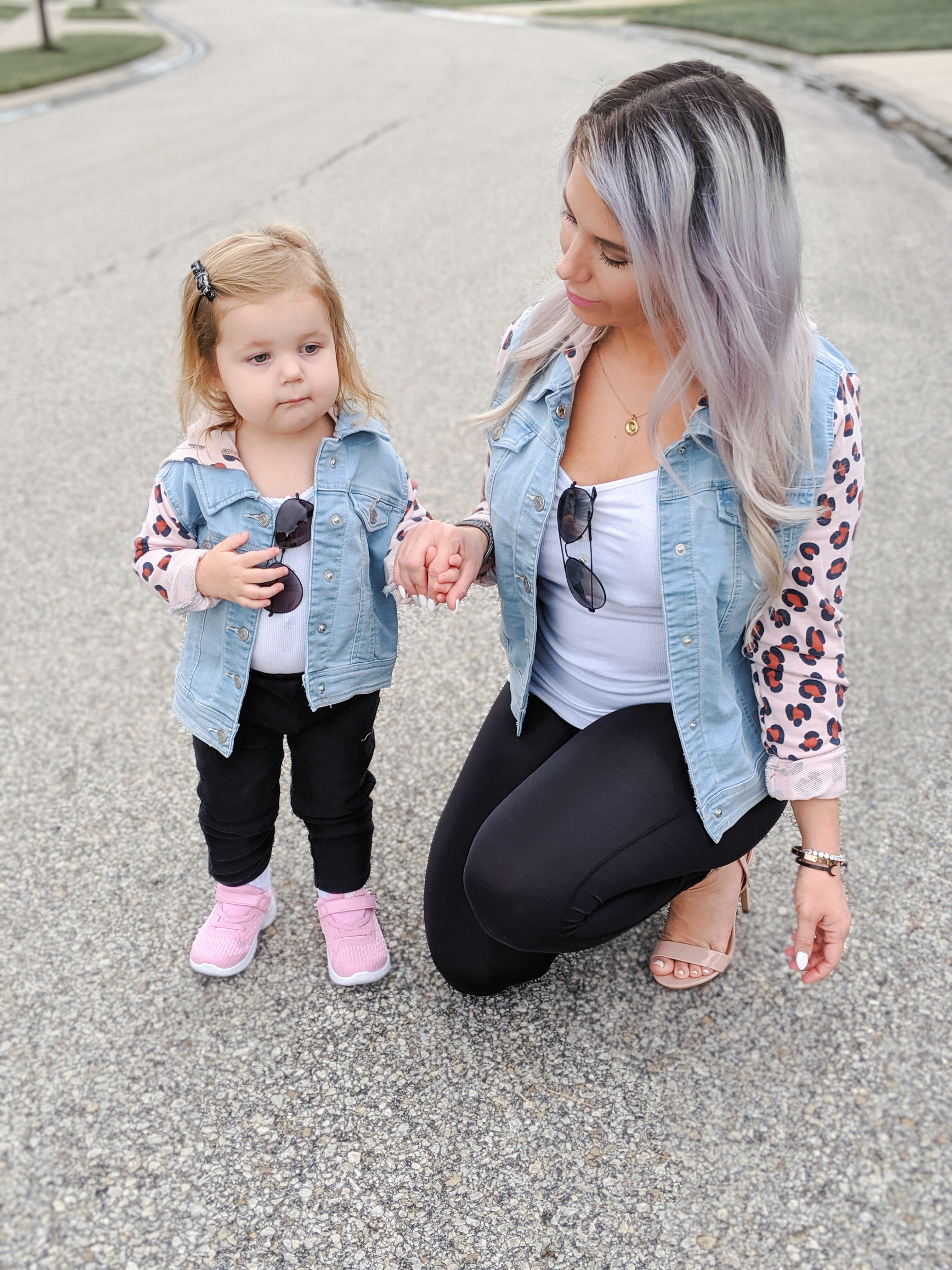 Mommy and Me Outfits, Mommy and Me Jackets, Target clothes, Target fashion, Mommy and Me outfits from Target, leopard print mom and me, girl mom, mom and daughter photos, #targetstyle #target #leopardprint Fall Outfits 2019