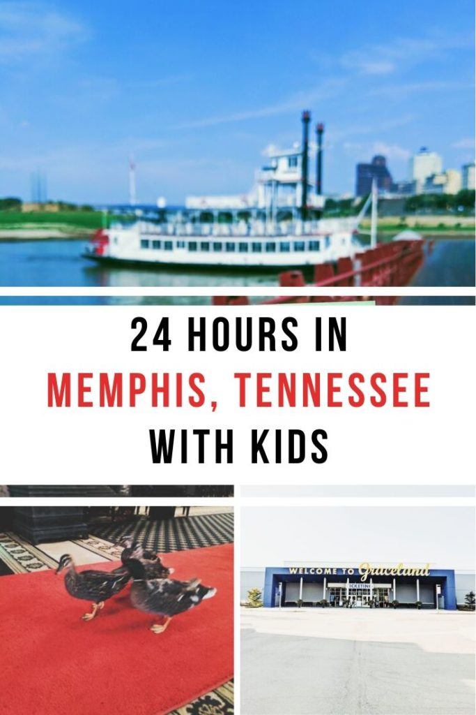 24 Hours in Memphis with Kids: Wondering what to do in Memphis with kids? If you're planning a trip to Memphis, TN, you'll want to check out this Memphis Travel Guide for Families! Including Memphis Riverboats, the Peabody Hotel Duck March, Sky High Ride at the Bass Pro Pyramid, Graceland, and the beautiful Hu Hotel! #madeintn #mustbememphis #memphis #visitmemphis #visittn