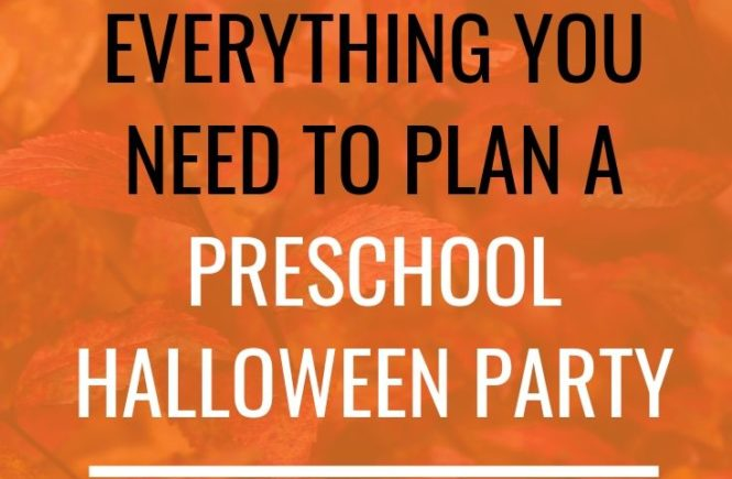 Preschool Halloween Party Plans: A full plan for a preschool Halloween party! Looking for preschool Halloween party ideas? Here's everything you need to plan a preschool Halloween party! #preschool #halloweenparty #halloween