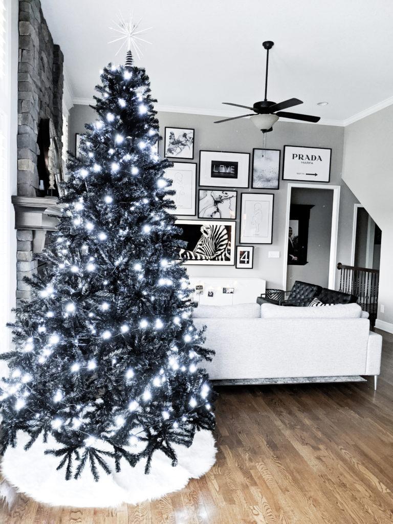 Black Christmas Tree Modern Christmas Decor Covet By Tricia