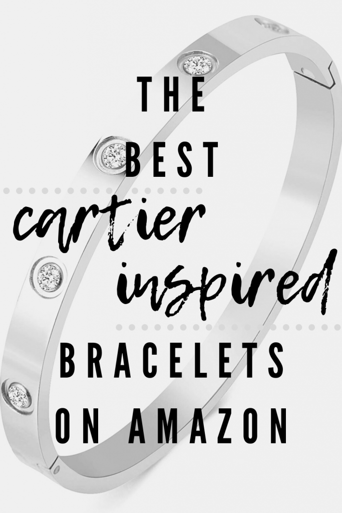 The Best Cartier Inspired Bracelets on Amazon - Looking for an inspired by Cartier love bracelet or Juste Un Clou Bracelet? Love the nail bracelet? Here are the best Cartier inspired bracelets on Amazon! Shop the look with these bracelets similar to the Cartier Love bracelet and Juste Un Clou bracelet! #designerinspired #amazonfinds