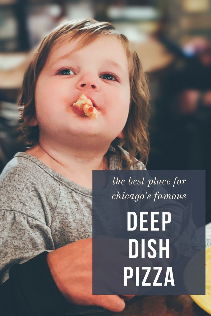 Chicago Deep Dish Pizza - Lou Malnati's Review - Wanting the best deep dish pizza in Chicago? Check out Lou Malnati's Michigan Ave in Chicago! #chicago #pizza #familytravel
