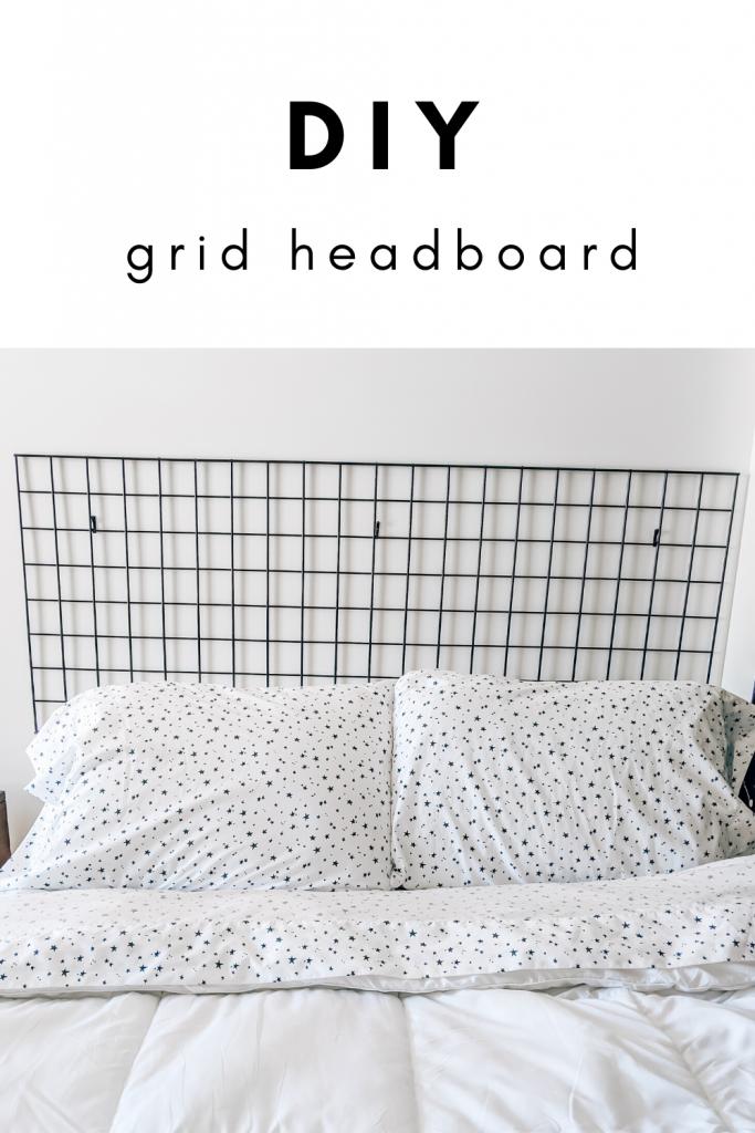 DIY Grid Headboard - DIY Headboard Ideas - Genius DIY modern headboard ideas that are actually affordable! #headboard #scandinavian #modern #minimalist