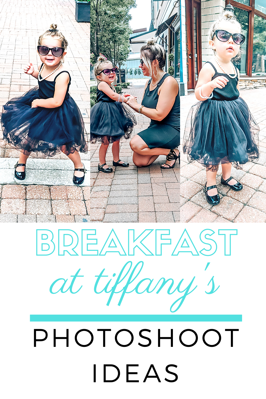 Breakfast at Tiffanys Photoshoot - Breakfast at Tiffany's Photos - Audrey Hepburn Costume Toddler Little Girls #breakfastattiffanys #audreyhepburn #lbd