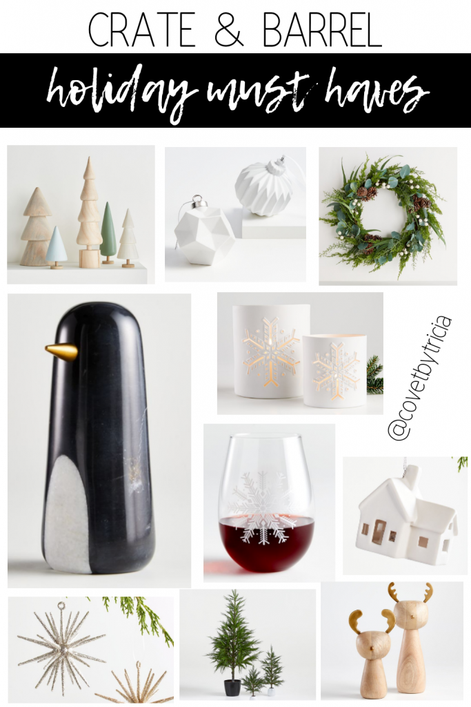 Crate & Barrel Christmas Decorations - Crate & Barrel Holiday Decor 2020 - Modern Christmas Decor Ideas - Black Christmas Tree - Crate & Barrel Christmas 2020 #crateandbarrel #christmasdecor #modernchristmas
