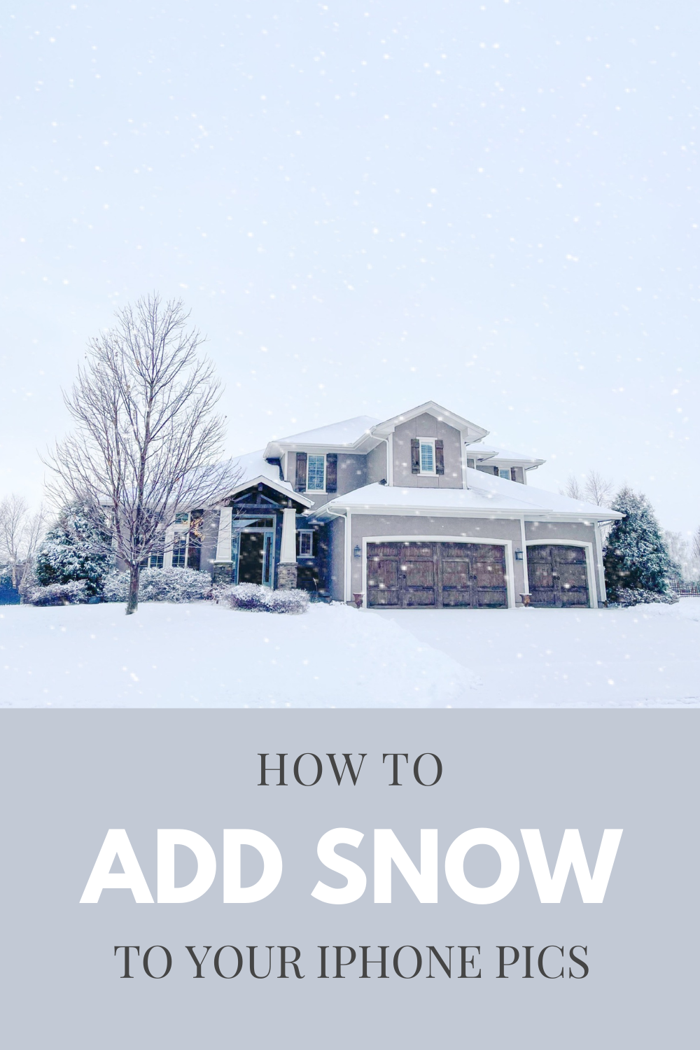 How to Add Snow to a Photo on iPhone for FREE! Choose from a static or animated snowfall effect for photos with these detailed instructions! Add snow to iPhone photos to make them Instagram worthy in no time! #instagram #snow #iphonephotography