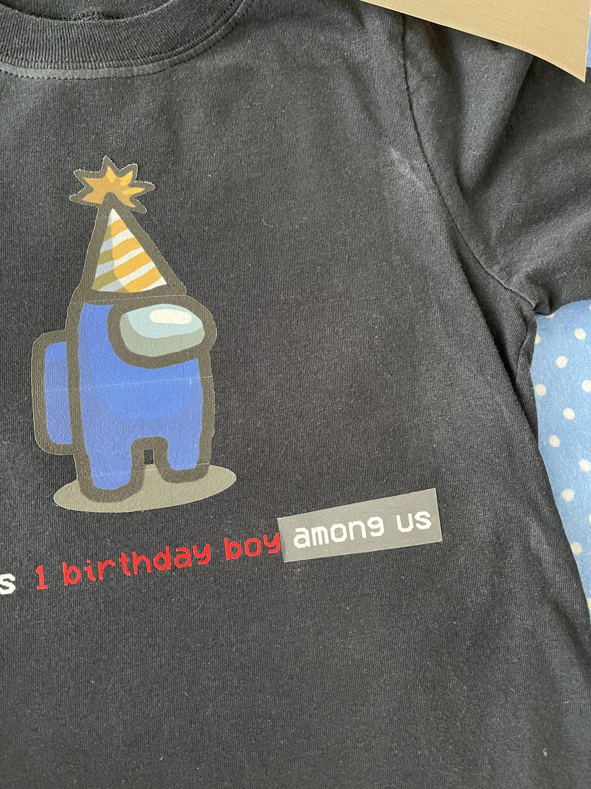 DIY Among Us Shirt - How to Make Among Us Merch - Make your own Among Us shirt with these simple DIY instructions! #amongus #amongusmerch #cricut